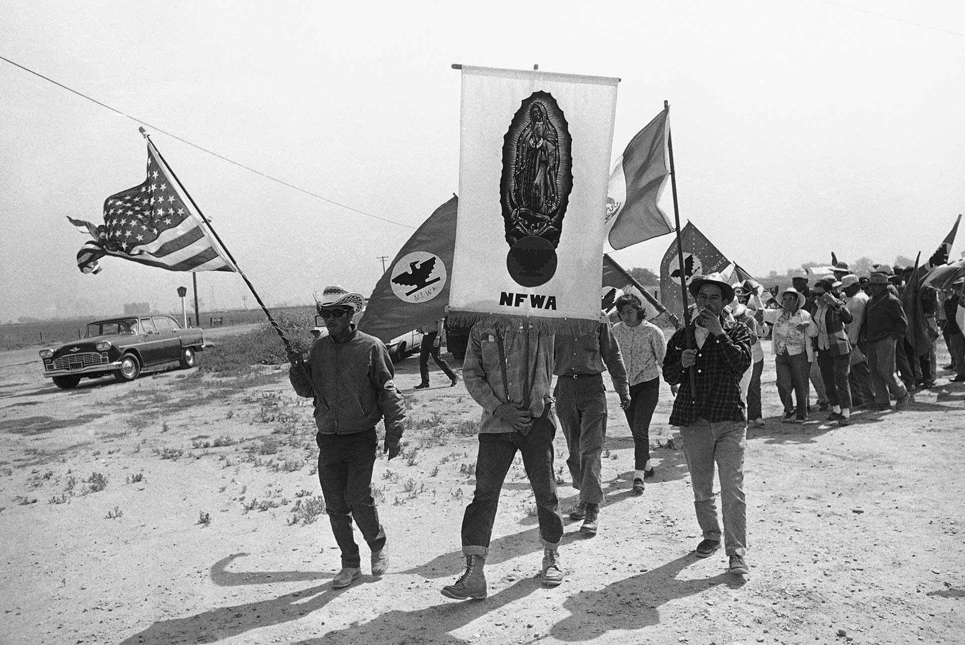 Delano grape workers' strike and march (1966)